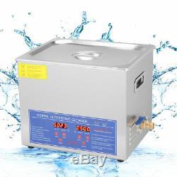 Acier Inoxydable 10l Litres Industrie Chauffe-nettoyeur À Ultrasons Dégivrants Avec Minuterie