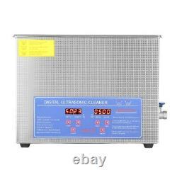Acier Inoxydable 15 L Litres Industrie Nettoyeur À Ultrasons Chauffants Chauffe Withtimer Nouveau