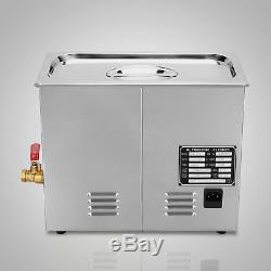 Acier Inoxydable 6 L Litres Industrie Chauffant Chauffe Nettoyeur À Ultrasons Withtimer