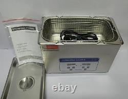 Ag Precision' Nettoyeur À Ultrasons Numériques Avec Chauffe Et Minuterie 4,5 L De Capacité