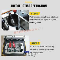 Autool Ct-150 Essence Ultrasonic Fuel Injector Testeur Cleaner Cleaner Machine