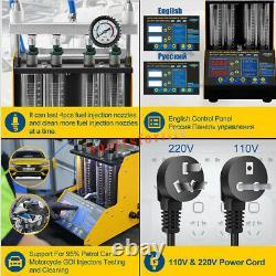 Autool Ct150 À Ultrasons D'injecteur De Carburant Testeur De Nettoyage 4cylinder Pour 220 V Eu Plug