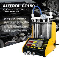 Autool Ct150 Ultrasons 4 Cylindres Carburant Injector Cleaner Testeur Pour L'essence De Voiture