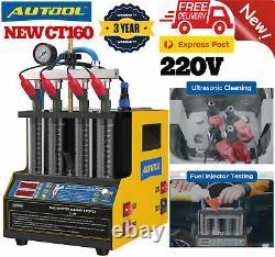 Autool Ct160 Injecteur De Carburant À Essence À Ultrasons Pour Le Chauffage De La Machine De Nettoyage Et De Testeur