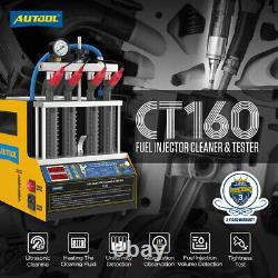 Autool Ct160 Testeur D'injecteur 4-cyliner Nettoyeur Ultrasonore Machine Car Motorcyle