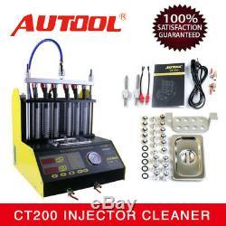 Autool Ct200 Essence Nettoyeur À Ultrasons Injecteur De Carburant Testeur Pour Auto Moto