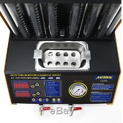 Autool Ct200 Nettoyeur À Ultrasons Injecteur De Carburant Testeur Pour Auto Moto 110v Us