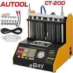 Autool Ct200 Ultrasons Nettoyeur D'injecteur De Carburant Testeur Machine Pour Moto Et En Voiture