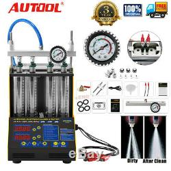Ct150 Auto Moto Essence Ultrasons Injecteur Cleaner Testeur 4 Cylindres