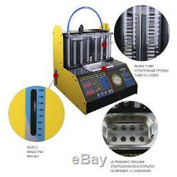 Ct200 6 Cylindres Voiture Injecteur Machine De Nettoyage Tester Nettoyeur À Ultrasons