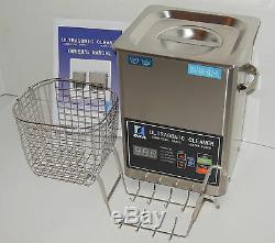 Dsa70se-gl2 3l 3.17qt 270w Double 20 / 40khz Digital Chauffant Ultrasons Nettoyant Pièces