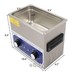 En Acier Inoxydable 3l Litres Industrie Nettoyeur À Ultrasons Chauffants Chauffe Durable Chaud