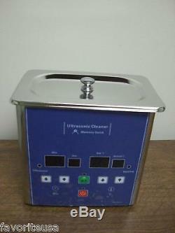 Eumax 0,7 Litre 1-1 / 2 Pintes De Petite Capacité Nettoyeur Ultrasonique Chauffé Numérique
