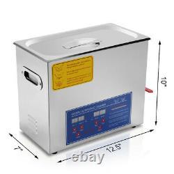 Hfs(r) Nettoyeur À Ultrasons Numériques De Qualité Commerciale Acier Inoxydable 6l Capacité