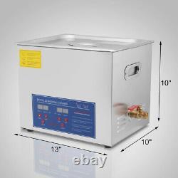 Hfs(r)nettoyeur À Ultrasons Numériques De Qualité Commerciale Acier Inoxydable 10l Capacité