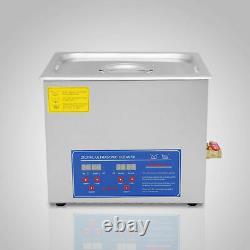 Industrie 30l Nettoyeur À Ultrasons Équipement De Nettoyage Littéralement Chauffé Avec Minuterie