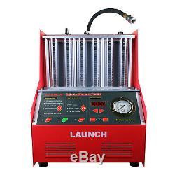 Lancer Cnc602a 6 Cylindres À Ultrasons Testeur De Nettoyage D'injecteurs De Carburant Pour Voiture Essence