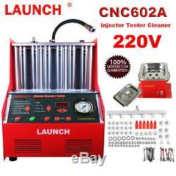 Lancer Cnc602a À Ultrasons Injecteur De Carburant Essence Voiture Automatique Testeur Machine Cleaner