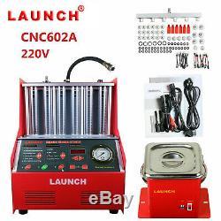 Lancer Cnc602a Automatique À Ultrasons Injecteur De Carburant Plus Propre Testeur Pour 110v Essence Voiture