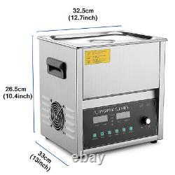 Machine Commerciale De Nettoyage À Ultrasons (10 Litres) Balayage Et Dégazage