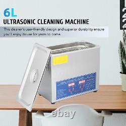 Machine De Nettoyage À Ultrasons 6l Pour Polissage En Verre Avec Minuterie Et Chauffage