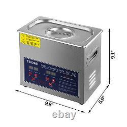 Machine De Nettoyage À Ultrasons Numérique Professionnelle Avec Minuterie De Nettoyage Chauffé 3l Us