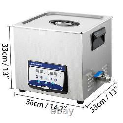 Machine De Nettoyeur Ultrasonique De Bijoux 20l 210/420w Nettoyeur Sonique Numérique