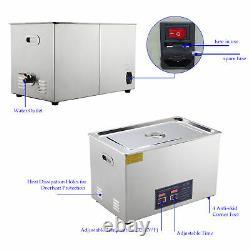 Machine Professionnelle De Nettoyage Ultrasonique De 30l De Nettoyeur De Bijoux Avec Le Réchauffeur Et La Montre