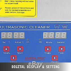 Nettoyeur À Ultrasons 15l Numérique Kit Ultrasonic Bain Minuterie Nettoyage Des Bijoux