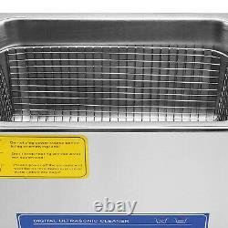 Nettoyeur À Ultrasons Acier Inoxydable 10l Industrie Chauffe-glace Avec Minuterie