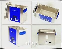 Nettoyeur À Ultrasons Dr-p30 3l Dégaz De Balayage Pulse Power Réglable 160w Laboratoire Dentaire