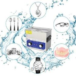 Nettoyeur À Ultrasons En Acier Inoxydable 3l Litres Chauffe-chauffé Withtimer Labs Industrie