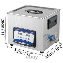 Nettoyeur À Ultrasons Machine À Ultrasons 10l 120/240w Degas Nettoyeur Sonique Numérique