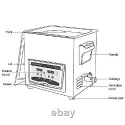 Nettoyeur À Ultrasons Machine À Ultrasons 20l 210/420w Degasdigital Sonic Cleaner