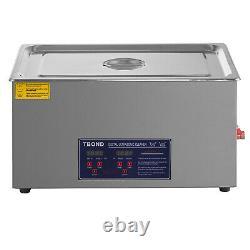 Nettoyeur Ultrasonique 30 Litres Acier Inoxydable Industrie Des Verres Propres Chauffés