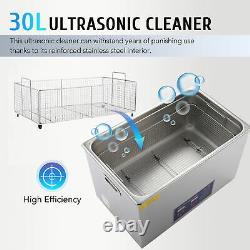 Nettoyeur Ultrasonique Chauffage Chauffé De L'industrie De L'acier Inoxydable Avectimer 30l