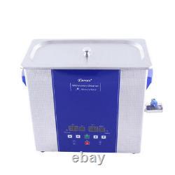 Nettoyeur Ultrasonique Eumax 6l-4x 50watt Transducteur & Chauffage & Panneau Led Numérique