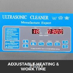 Nettoyeur Ultrasonique Numérique 22l Avec Chauffage 28/40khz 0-80 0-30min Chauffage