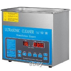 Nettoyeur Ultrasonique Numérique 3l Avec Chauffe-eau 28/40khz Lunettes Degas Bijoux