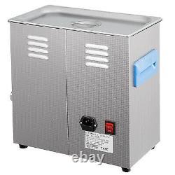 Nettoyeur Ultrasonique Numérique 6l Avec Chauffe-eau 28/40khz Lunettes Degas Lab