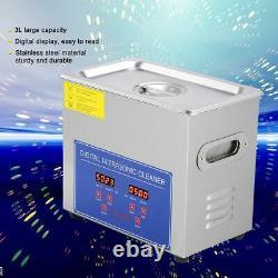 New 10l Nettoyeur À Ultrasons Industrie En Acier Inoxydable Chauffe Dégivrants Avec Minuterie USA