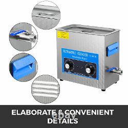 Nouveau 6l Ultrasonic Cleaner Stainless Steel Industry Heated Heater Withtimer