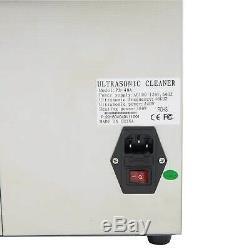 Nouveau En Acier Inoxydable 10 L Litres Industrie Chauffant Chauffe Nettoyeur À Ultrasons Withtimer
