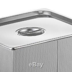 Nouveau En Acier Inoxydable 10l Litres Industrie Nettoyeur À Ultrasons Chauffants Chauffe Withtimer
