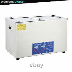 Nouveau En Acier Inoxydable 2-30 Litres Industrie Chauffée Nettoyeur À Ultrasons Chauffe Minuterie