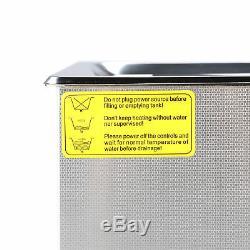 Nouveau En Acier Inoxydable 30l Litres Industrie Nettoyeur À Ultrasons Chauffants Chauffe Withtimer