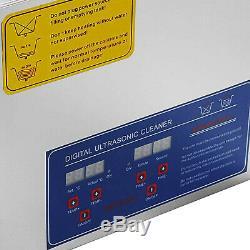 Nouveau En Acier Inoxydable 6 L Litres Industrie Chauffant Chauffe Nettoyeur À Ultrasons Withtimer