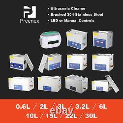 Preenex 0.6l/2l /3l /3.2l / 6l/ 10l/ 15l/ Nettoyeur Ultrasonique De 30l Avec Réchauffeur De Civière