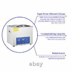 Preenex 10l 2.6gal Professionnel Ultrasonic Cleaner Avec Timer Numérique - Chauffage