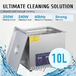 Preenex 10l Commercial Electric Ultrasound Clean Machine Nettoyeur Ultrasonique 110v